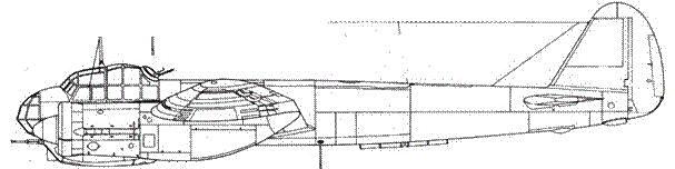 Junkers 88 А-14 с пушкой MG FF в подфюзеляжной гондоле