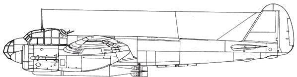 Junkers 88 A-17 с торпедой LT5b