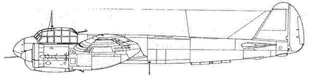Junkers 88 С-2 дневной истребиель пушка MG 151/20 в передней части фюзеляжа по наклоном в 15 градусов