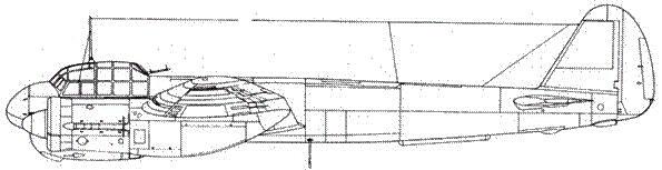 Junkers 88 С-4 дневной истребитель антенна FuBi закрыта плексигласовым обтекателем