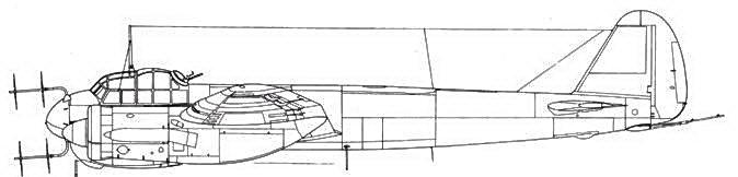 Junkers 88 С-6 ночной истребитель с радаром FuG 220 Lichtenstein SN2 в носу и антенной задней полусферы