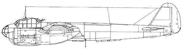 Junkers 88 D-2 с фотокамерами, размещенными в бомбоотсеке