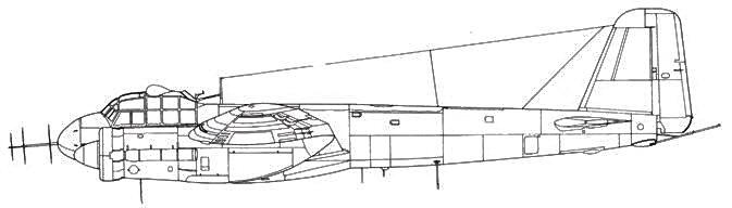 Junkers 88 G-6 впереди – антенна Morgenstern радара FuG 220 Lichtenstein SN 2, сзади – антенна задней полусферы