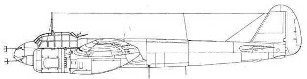 Junkers 88 R-1 дальнейшее развитие С-6 впереди – антенна радара FuG 212 Lichtenstein C1