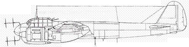 Junkers 88 R-2 впереди – антенна радара FuG 220 Lichtenstein SN 2