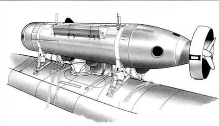 Аппарат DSRV на субмарине типа «Стержен»