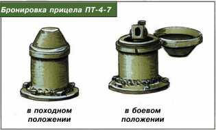 Бронировка прицела ПТ-4-7.