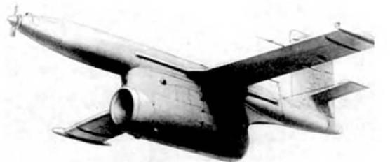 Рис. 3.1. Беспилотный самолет-разведчик Ла-17Р в полете