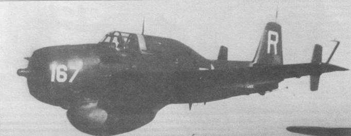 Ряд ТВМ-3W было передано в резервные военно-морские подразделения. Этот ТВМ-3W пилотирует младший лейтенант Руни из VS-833 Резервной эскадрильи, базирующейся на. WAS Флойд Беннет Филд, Нью-Йорк, октябрь 1954 года.