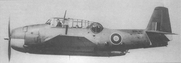 Тарпон I/Эвенджер (FN767) из первой партии, подученной англичанами, служил в 832-й эскадрильи FAA, апрель /943 года. Самолет несет стандартную камуфляжную окраску, состоящую из пятен неправильной формы серо-голубого (Extra Dark Sea Grey) и серо-зеленого (Dark Slate Grey) цветов на верхних поверхностях, нижние поверхности окрашены серо-голубым (Sky) цветом. Все краски камуфляжа были матовыми.