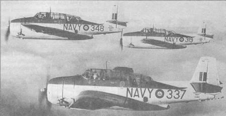 """Эвенджеры TBM-3S Royal Canadian Air Force, полученные после окончания Второй мировой воины и служащие в противолодочных подразделениях, окрашивались в два оттенка серого цвета, аналогично американской окраске """"Atlantic Camouflage""""."""