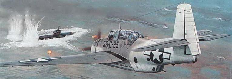 TBM-IC из 58-й смешанной эскадрильи, стал первым американским самолетом, выполнившим ракетную атаку в ходе Второй мировой войны. Немецкая подводная лодка была поражена двумя ракетами и была вынуждена возвратиться в порт с большими повреждениями.