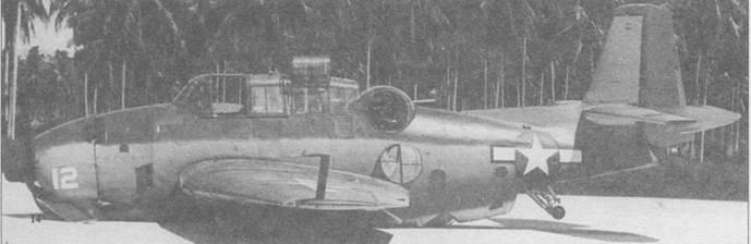 Поврежденный в бою ТВМ-1 совершил успешную посадку на брюхо, приземлившись на острове Бакника Руссельского архипелага, 27 июня 1944 года. Опасаясь пожара, стрелок сбросил аварийный люк башенки.
