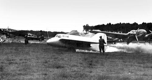 Запуск двигателей DFS 194.