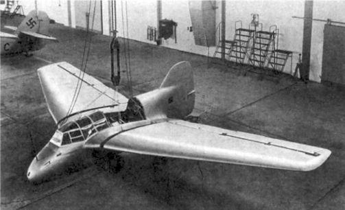 Один из двух прототипов с ракетным двигателем DFS 194, который был собран в Аугсбурге. Судьба другого прототипа не известна.