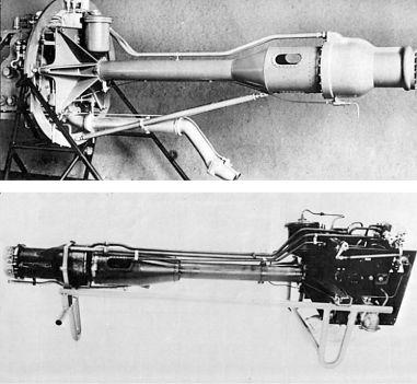 Двигатель HWK 109-509А. Длина: 2,5м. Ширина: 0,9м. Высота: 0,7м. Объем камеры сгорания: 9 л.