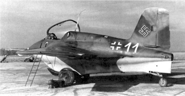 Me 163, снимок был сделан 15 ноября 1944г.