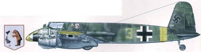 Hs 129В-2 из эскадрильи истребителей танков, приданной JG 51. Восточный фронт, 1943 г. В конце года самолет передали румынам, в августе 1944 он был захвачен немцами.