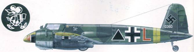Hs 129В-2 из 2-й учебной штурмовой авиагруппы. 1943 г. Ранее этот самолет служил на Восточном фронте в составе II./Sch.G 1. В сентябре 1944 года машина была потеряна в летном происшествии. На тот момент этот «Хеншель» был в составе 6./Sch.G. 151.