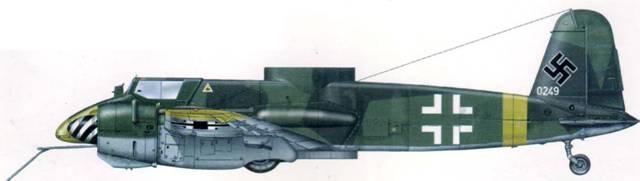 Экспериментальный противотанковый Hs 129В- 2 с системой «Fostersonde», весна 1944 г.
