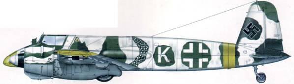 Hs 129В-2 с временным зимним камуфляжем, 10 (Pz)/SG 9, Украина, март 1944 г.
