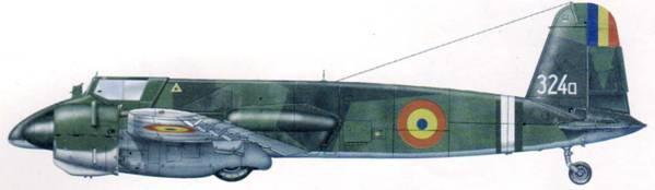 Один из 20 доставшихся румынам после выхода из Оси Hs 129В-2. Опознавательные знаки заменены на довоенные. Самолет был сбит истребителями 19 декабря 1944 г.