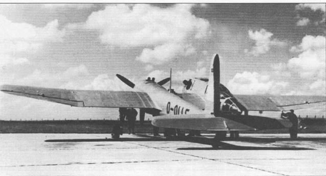 Фирма Бломм унд Фосс представила па конкурс штурмового самолета для люфтваффе в 1937 г. опытный самолет ВV- 141V-4 (D-OLLE, W.Nr. 360). Машина имела необычную ассимметричную компоновку, гондола с кабиной экипажа сдвинута чправо от продольной оси самолета, а двигатель и хвостовая балка с оперением – вправо. Именно из-за необычной конфигурации командование люфтваффе исключило машину из участия в конкурсе на самом раннем этапе.