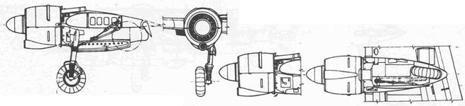 Вариант мотогондолы с круглым воздухозаборником В-0 и ранних В-1