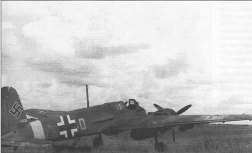 Союзные войска обнаружили этот Hs-129B-2 весной 1945 г.на аэродроме Авиационного исследовательского института в Фолькенроде, земля Бранденбург. Экспериментальный образец вооружен установленными вертикально в фюзеляже противотанковыми мортирами SG-113A «Forstersonde». Детальной информации по данной машине обнаружить не удалось. Обратите внимание на открытый люк доступа к радиостанции и обмотанное парашютом вертикальное оперение. Сдвижной сегмент фонаря кабины удален.