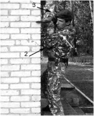 Фото 263. Боковая изготовка для стрельбы «условным способом» из пистолета: