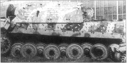 «Штурмтигр» на испытаниях после захвата образца англо-американскими войсками.