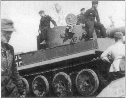 Pz.Kpfw.VI(H) из состава различных рот 502-го батальона тяжелых танков вермахта. Первая рота имела трехзначные номера белого цвета, вторая и третья роты — черного цвета. Окраска желтая Dunkel Gelb, нанесенная на базовый серый фон. Апрель-май 1943 года.
