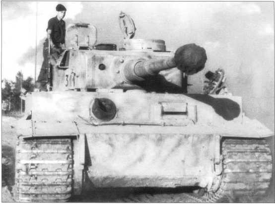 «Тигр» номер «311» из состава 3-й роты. Советско-германский фронт, июль 1943 года.