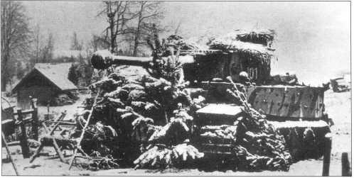 «Тигр» номер «101» в засаде. Советско-германский фронт, район Невеля, февраль 1944 года.