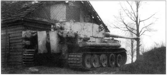 Pz.Kpfw.VI(H) без опознавательных знаков. Советско-германский фронт, район Орши, декабрь 1943 года.