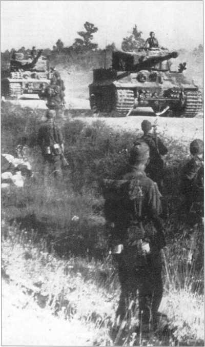 «Тигры» на марше. Лето 1944 года.