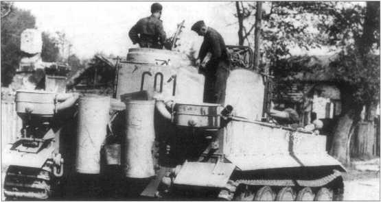 «Тигр I» (номер «C01») в районе Днепра. Советско-германский фронт, сентябрь 1943 года.