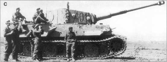 Pz.Kpfw.VI Ausf.E из состава 3-го батальона дивизии «Великая Германия». Номера «В10» (фото A) «S01» (фото В), «A0I» (фото С). Машины покрыты циммеритом (zimmerit), окрашены в желтый Dunkel Gelb. Номера — черного цвета. Сентябрь 1943 года.