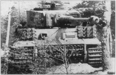 «Тигр I» из состава компании «Ферманна» («Fehrmann») за номером «F02» подбитый британскими войсками в районе Остенхольца (Ostenholz). До своего уничтожения «Тигр» подбил 2 танка «Комета», полугусеничный транспортер и бронеавтомобиль. Апрель 1945 года.