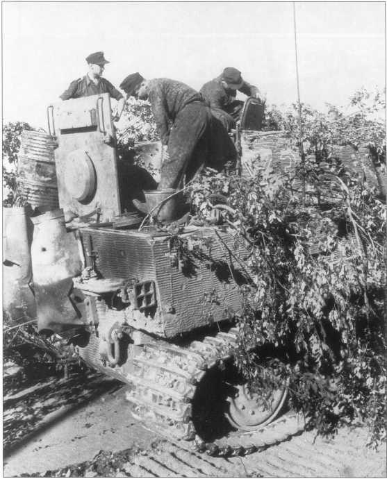 Ремонт танка «Тигр I» номер «231». Нормандия, лето 1944 года.