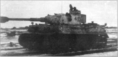 Pz.Kpfw.VI(H) тяжелой роты 3-го танкового полка дивизии СС «Мертвая голова». Февраль 1943 года, район Харькова.