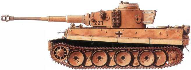 Pz.Kpfw, VI(H) 2-й роты 502-го батальона тяжелых танков вермахта. Имеет ящик для инвентаря от танка Pz.Kpfw. IV.Вероятно, захвачен подЛенинградом весной 1943 года.