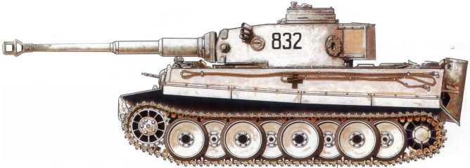 Pz.Kpfw.VI(H) 8-й роты 2-го танкового полка дивизии СС «Рейх». Советско-германский фронт, февраль 1943 года.