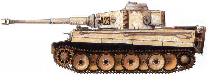 Pz.Kpfw.VI(H) из состава 13-й роты дивизии вермахта«Великая Германия». Советско-германский фронт, февраль1943 года.