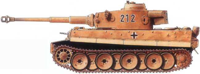 Pz.Kpfw.VI(H) 503-го батальона тяжелых танков. Забашенный ящик снят с танка Pz.Kpfw.III.Курская Дуга, июль 1943 года.