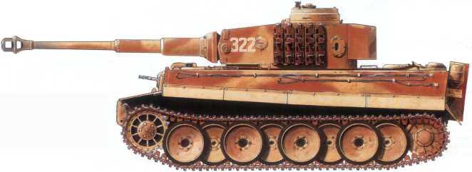 Pz.Kpfw.VI(H) 505-го батальона тяжелых танков вермахта.Курская Дуга, июль 1943 года.