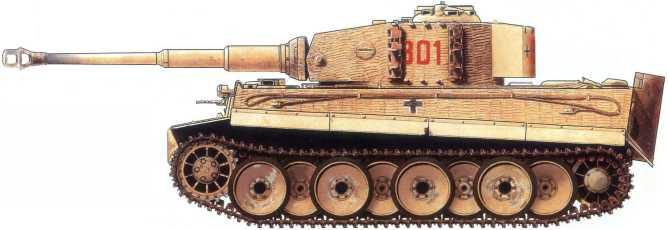 Pz.Kpfw.VI(H) (номер «301» из состава дивизии СС «Мертвая голова». Украина, осень 1943года.