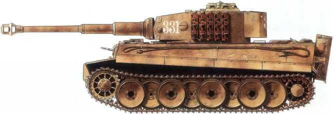 Pz.Kpfw.VI(H) 509-го батальона тяжелых танков вермахта.Советско-германский фронт, район Киева, ноябрь 1943 года.