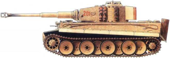 Pz.Kpfw.VI(H) из состава 502-го батальона вермахта. Советско-германский фронт, январь1944 года.