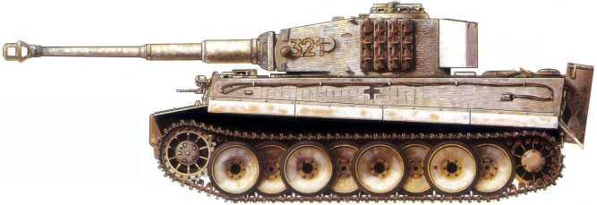 Pz.Kpfw.VI(H) 501-ro отдельного батальона тяжелых танков. Советско-германский фронт, март 1944 года.